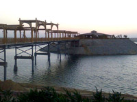 Fish restaurant on Island of the Suez Canal - New Ismailia Club